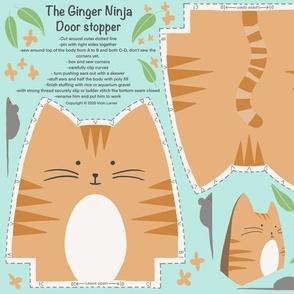 The Ginger Ninja doorstop