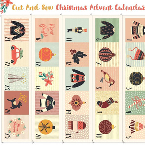 Advent Calendar Cut And Sew - Fat Quarter Project