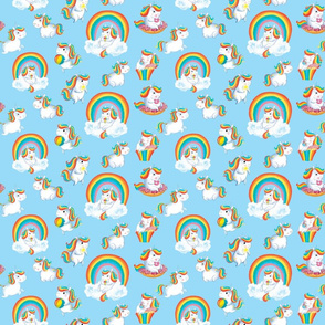 Cute kids Rainbow Unicorns kawaii