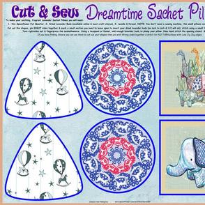 Cut and Sew Dreamtime Sachet Pillows