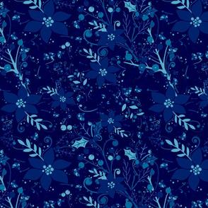 Winter flora ocean blue