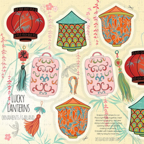 lucky lantern ornaments or garland