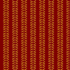 Mudcloth 3 Inverted & Vertical -Minnesota Gophers Colors