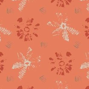 monoprint-peach sorbet