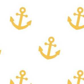 Nautical Anchor Yellow Gold