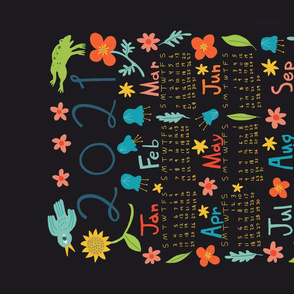 2021 Calendar (black)