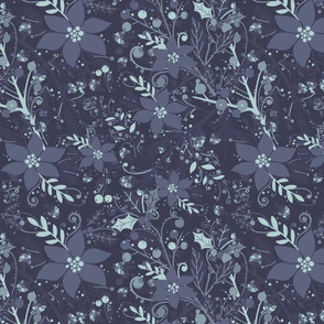 Winter flora bone blues