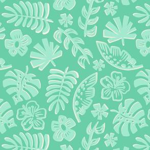 Tropical leaves green