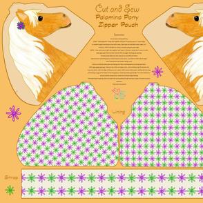 Cut and Sew Palomino Zipper Pouch Fat Quarter