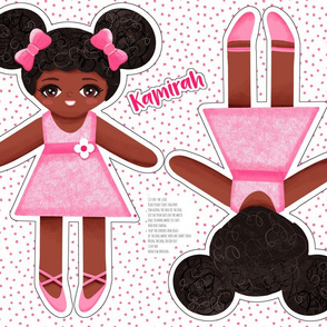 Kamirah - African American cut and sew doll