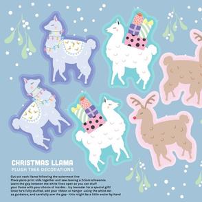 Llama Christmas Hanger