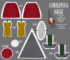 Cut and Sew Holiday Nisse Gnome