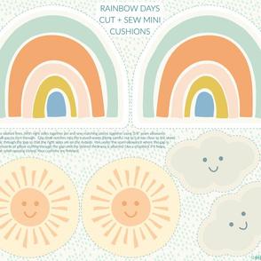 Rainbow Days cut + sew FQ project by Pippa Shaw