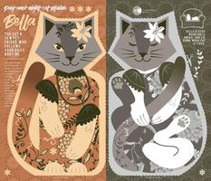 Bella the cat | cut and sew plushie