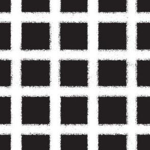 Fuzzy plaid-black