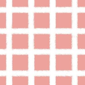 Fuzzy plaid-pink