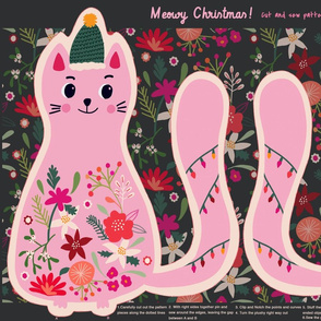 Meowy Christmas - Cut and sew