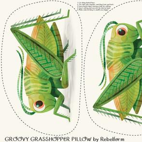 Groovy Grasshopper Pillow