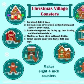 Christmas Village Coasters