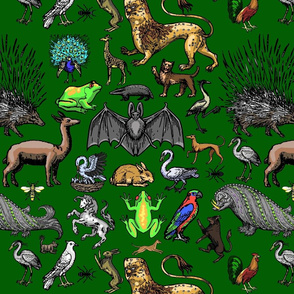 Medieval Animals - Green