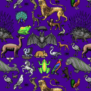 Medieval Animals - Purple