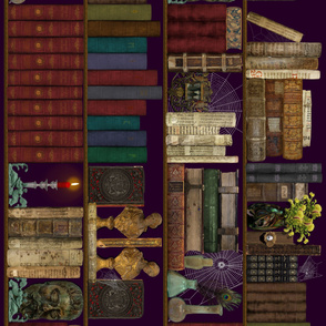 Professor Darksage's Forbidden Library ~ Horizontal Tapestry ~ 2 yard repeat