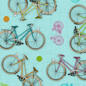 Vintage bicycles (turquoise)