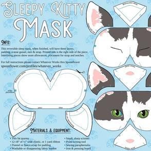 sleepy kitty mask cut sew