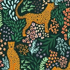Floral Cheetah Print