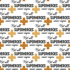 Face Mask - Gold Cross - Not All Superheroes Wear Capes - nurse, doctor, medical, COVID, coronavirus, corona mask, hospital, scrubs
