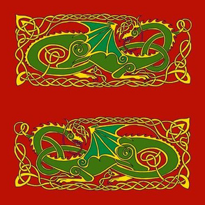 dragon 6 green red
