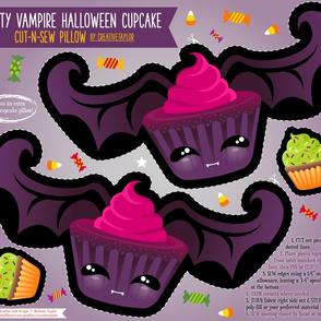 Cut N Sew Batty Vampire Cupcake Pillow