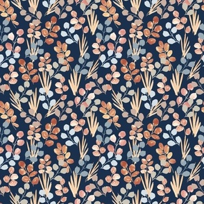 Wildflowers - Mint on White Horizontal