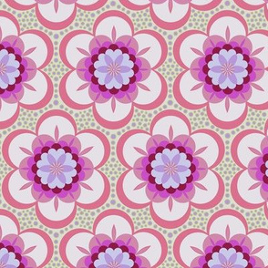 Bold floral - pink and purple