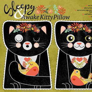 sleepy kitty pillow