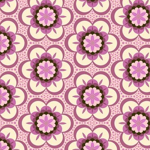 Bold floral - pink and cream