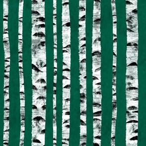 Birken Grün Abstrakt