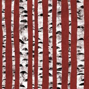 Birken Rot Abstrakt