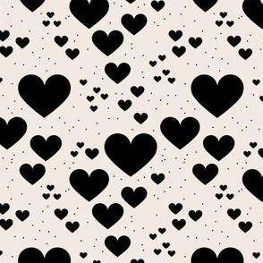 Rainbow love minimal planets hearts confetti pride gay universe off white black
