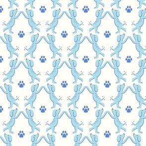 high five dogs/ blue/medium