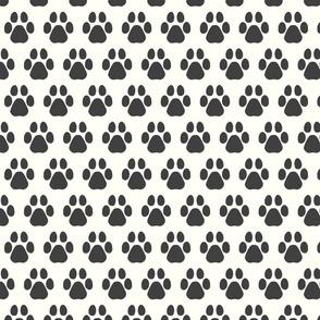 paw prints/charcoal/medium