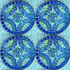 Mosaic 4 sq-blue