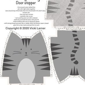 Cat doorstops or plushies mixed