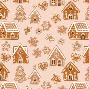 Gingerbread House- soft pink