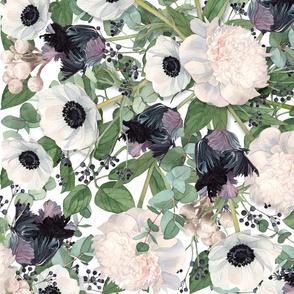 Eucalyptus Floral Allover WHITE