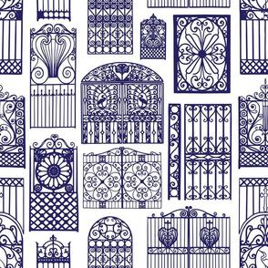 Charleston Gates Blue
