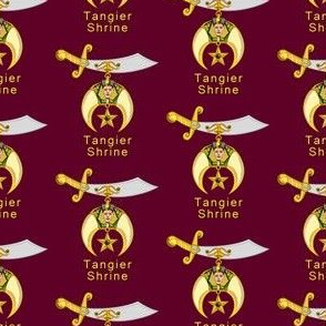 """Custom 5 Large 2"""" Shriners Red Logo. You must contact designer BEFORE you place your order. Fabric print just like the preview shows."""