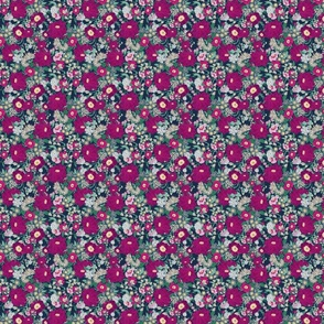 Ditzy Navy Berry Floral