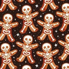 Gingerbread Skeletons Black