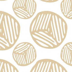 Blockprint Circles  - Toffee (xlarge)